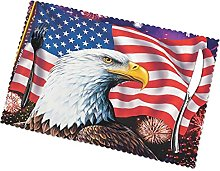 EaglePlacemats Set of 4 Washable Wear Resistant