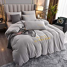 eal duvet cover king size-Winter thick coral