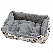 EANSSN Dog Bed, Arctic Velvet Pet Mattress, Medium