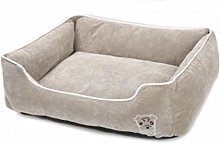 EANSSN Dog Bed, Corduroy Pet Mattress, Removable
