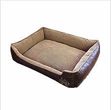 EANSSN Dog Bed, Corn Fleece Pet Nest, Removable
