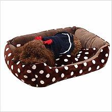 EANSSN Dog Bed, Flannel Pet Litter, Plus Fleece To