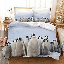 Earendel Baby Penguin Duvet Cover Set Cute Animal