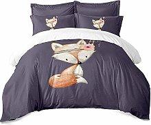 Earendel Cartoon Fox Bedding Little Animal Duvet