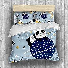 Earendel Cartoon Panda Duvet Cover Set Cute Animal
