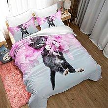 Earendel Cat Duvet Cover Set Lovely Animal Bedding