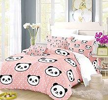 Earendel Cute Panda Bedding Blue Pink Green