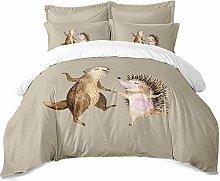 Earendel Cute Squirrel Hedgehog Bedding Set