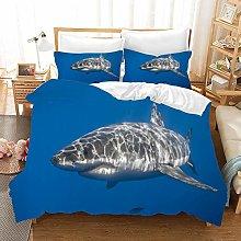 Earendel Shark Theme Duvet Cover Set Undersea