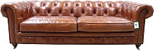 Earle Grande Chesterfield Tan Leather Sofa 3 Seater