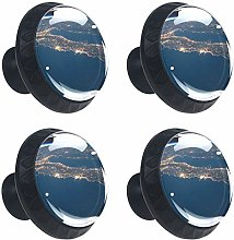 Earth 4PCS Round Drawer Knob Pull Handle Cupboard