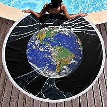 Earth Printed Round Beach Towel Yoga Picnic Mat