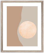 Earth Tones Scandi Framed Print, 57 x 47cm, Brown