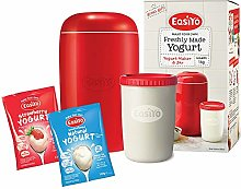 EasiYo Red Yogurt Maker - Plus Two Sachets
