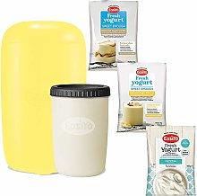 EasiYo Yellow Yogurt Maker Starter Pack with Sweet