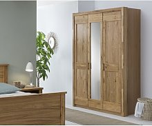 Easley 3 Door Wardrobe August Grove Colour: Brown