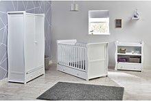 East Coast 3 Piece Nursery Furniture Set in White