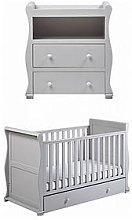 East Coast Alaska Cot Bed & Dresser Changer - Grey