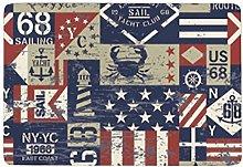 East Coast Nautical Flags,Area Rugs Washable