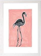 East End Prints Black Flamingo By Sophie Ward A3