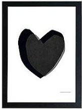 East End Prints Black Heart By Seventy Tree A3