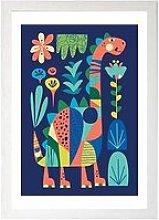 East End Prints Dino By Rachel Lee A3 Framed Print