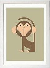 East End Prints Monkey By I Ended Up Here A3 Wall