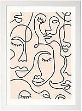 East End Prints Single Line Faces By Sundry