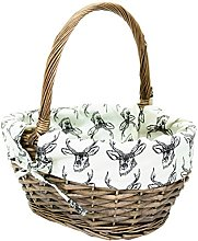east2eden Antique Brown Willow Wicker Traditional