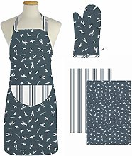 east2eden Countryside Kitchen Coastal Adult Apron