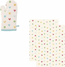 east2eden Countryside Kitchen Pastel Hearts Single