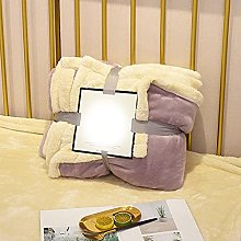 Eastbride Fur Fleece Plain Throw Blanket,Solid