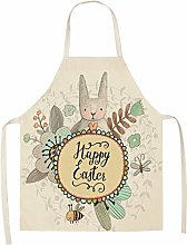 Easter Apron, Checkered Squares with Bunnies and