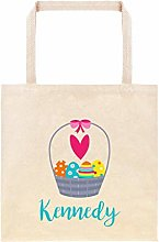 Easter Basket with Eggs Personalized Egg Hunt Bag