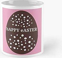 Easter Bunny Egg-Happy Easter-Pink Classic Mug |