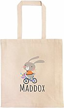 Easter Bunny Riding a Bike Personalized Egg Hunt
