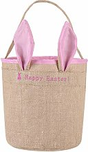 Easter Cloth Bag,Easter Egg Basket Holiday Rabbit