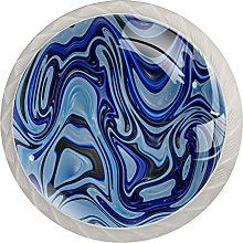 Easter Day 4 Pack Glass Drawer Knobs- Round Shape