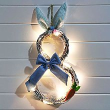 Easter Decoration, Easter Wreath With Lights,