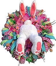 Easter Decorations, Rabbit Wreaths, handicrafts,