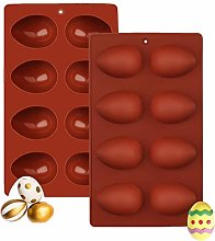 Easter Egg Chocolate Mould 1 Pcs, Ytbozjw 8-Cavity