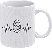 Easter Egg E-k-g Heartbeat Mug Easter Egg Coffee