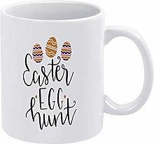 Easter Egg Funny Coffee Mug White Hunt Novelty