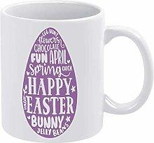 Easter Egg Funny Coffee Mug White Mandala Novelty