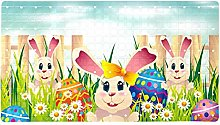 Easter Egg Hunt With Coloring Eggs And Cute Rabbit