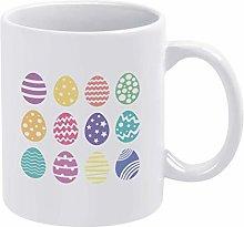 Easter Eggs Egg Bundle Happy Coffee Mug Cup, 11oz