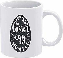 Easter Funny Coffee Mug White Egg Hunter Novelty