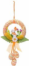 Easter Funny Rabbit Wreath, wuayi Easter Egg Cute