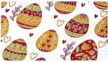Easter Hand Drawn Floral Egg Safe Shower Matfor