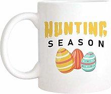 Easter Mug, Easter Egg Hunting Mug, Hunting